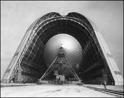 hangar 1 with airship inside