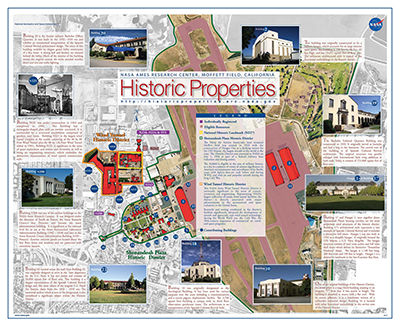 Map showing historic properties at Ames Reseach Center